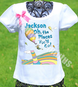 Girls Dr. Seuss Graduation Shirt
