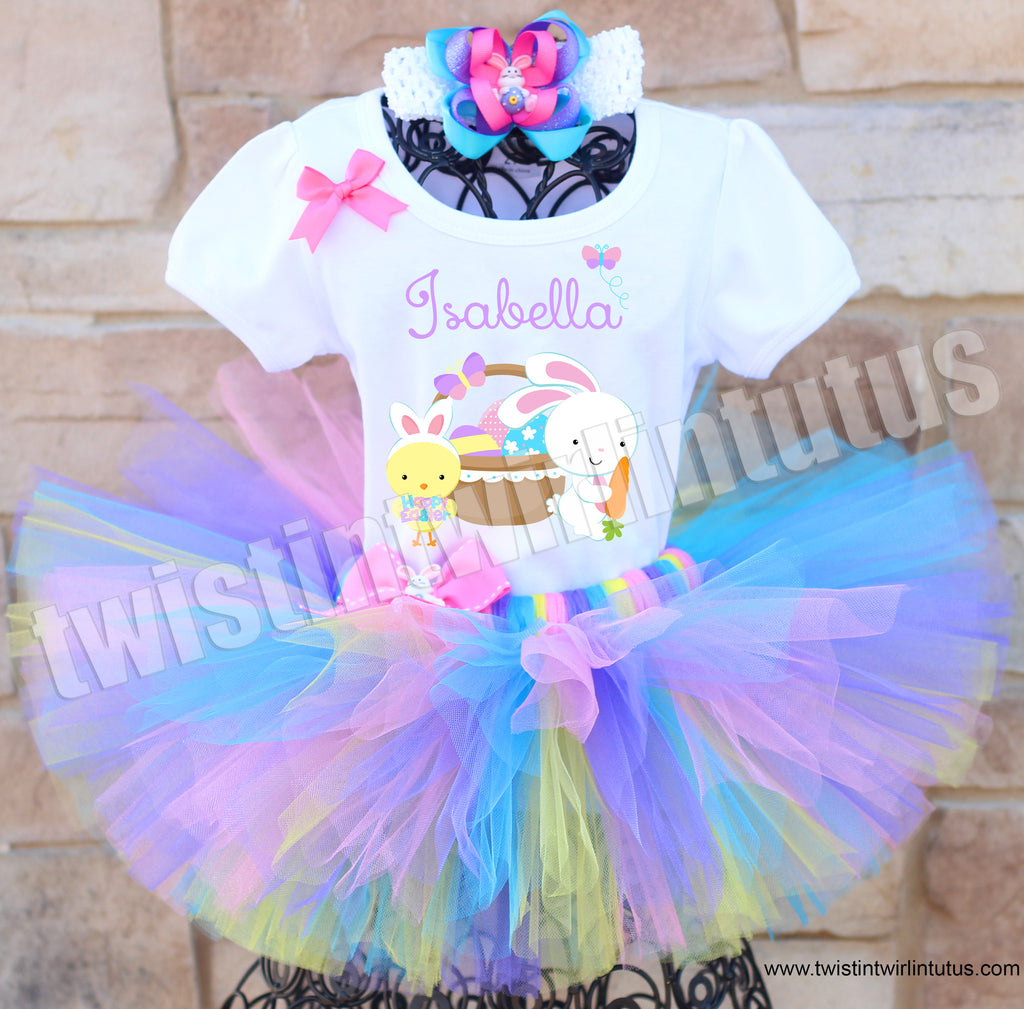 Easter Tutu Outfit with Hair Bow