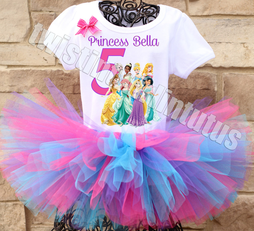 Disney Princesses Birthday Tutu Outfit
