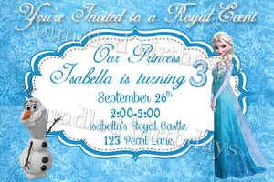 Elsa Birthday Invitation