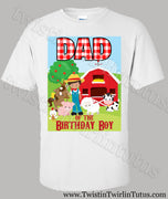 Farm Dad Birthday Shirt