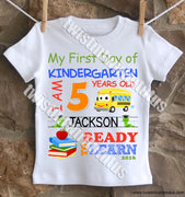 Boys First Day of Kindergarten Shirt