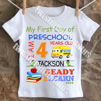 Boys First Day of Preschool shirt