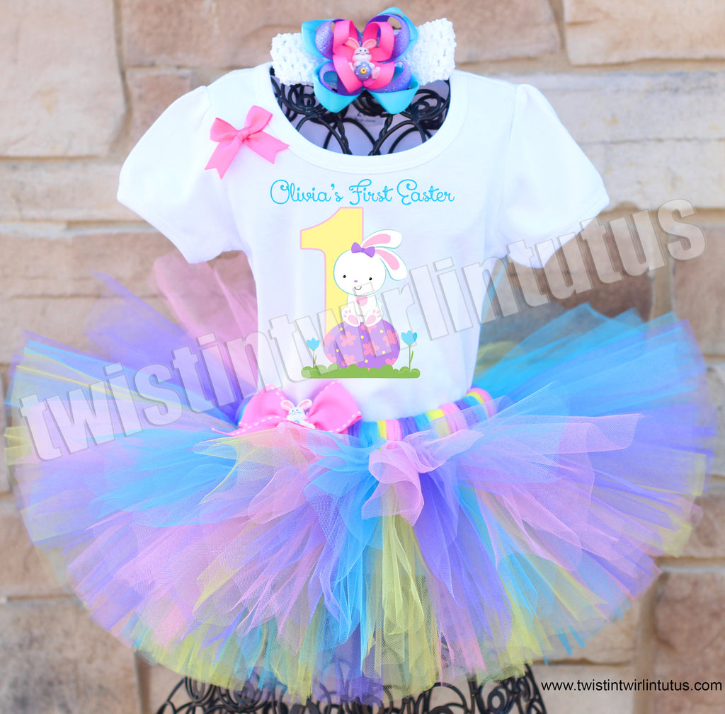 First Easter Tutu Outfit with Bow