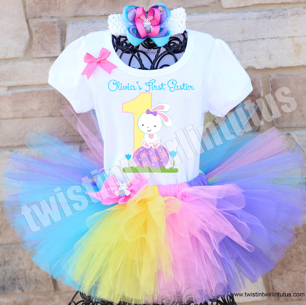 First Easter Tutu Outfit with Hair Bow