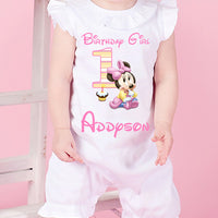 Baby Minnie Mouse Birthday Romper