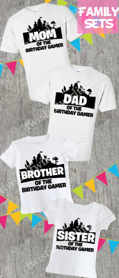 Fortnite Family Birthday Shirts