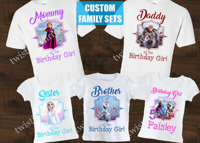 Frozen 2 Family Birthday Shirts