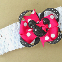 Bright Pink Minnie Mouse Headband