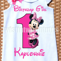 Minnie Mouse Birthday Romper
