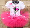 Zebra Minnie Mouse Tutu Outfit