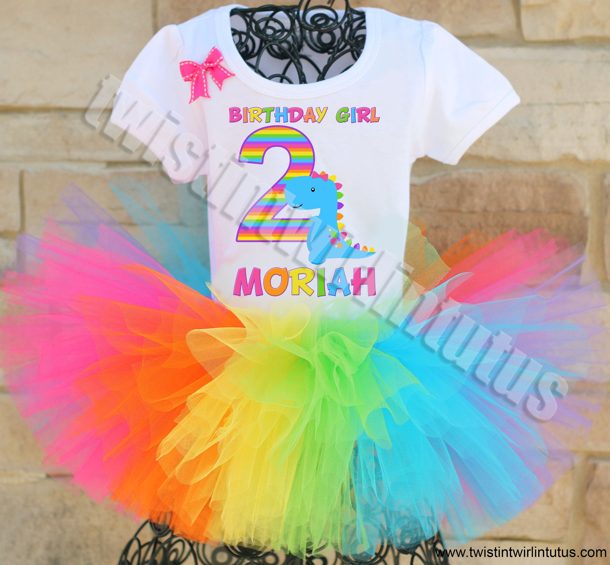 Girls Dinosaur birthday outfit