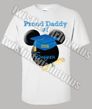 Adult Mickey Mouse Preschool  Kindergarten Graduation Shirt