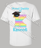 Rainbow Kindergarten Preschool Graduation Dad Shirt