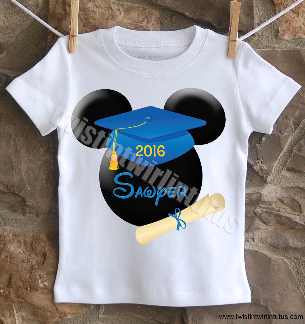 Mickey Mouse Kindergarten Preschool Graduation Shirt