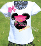 Minnie Mouse Kindergarten Preschool Graduation Shirt