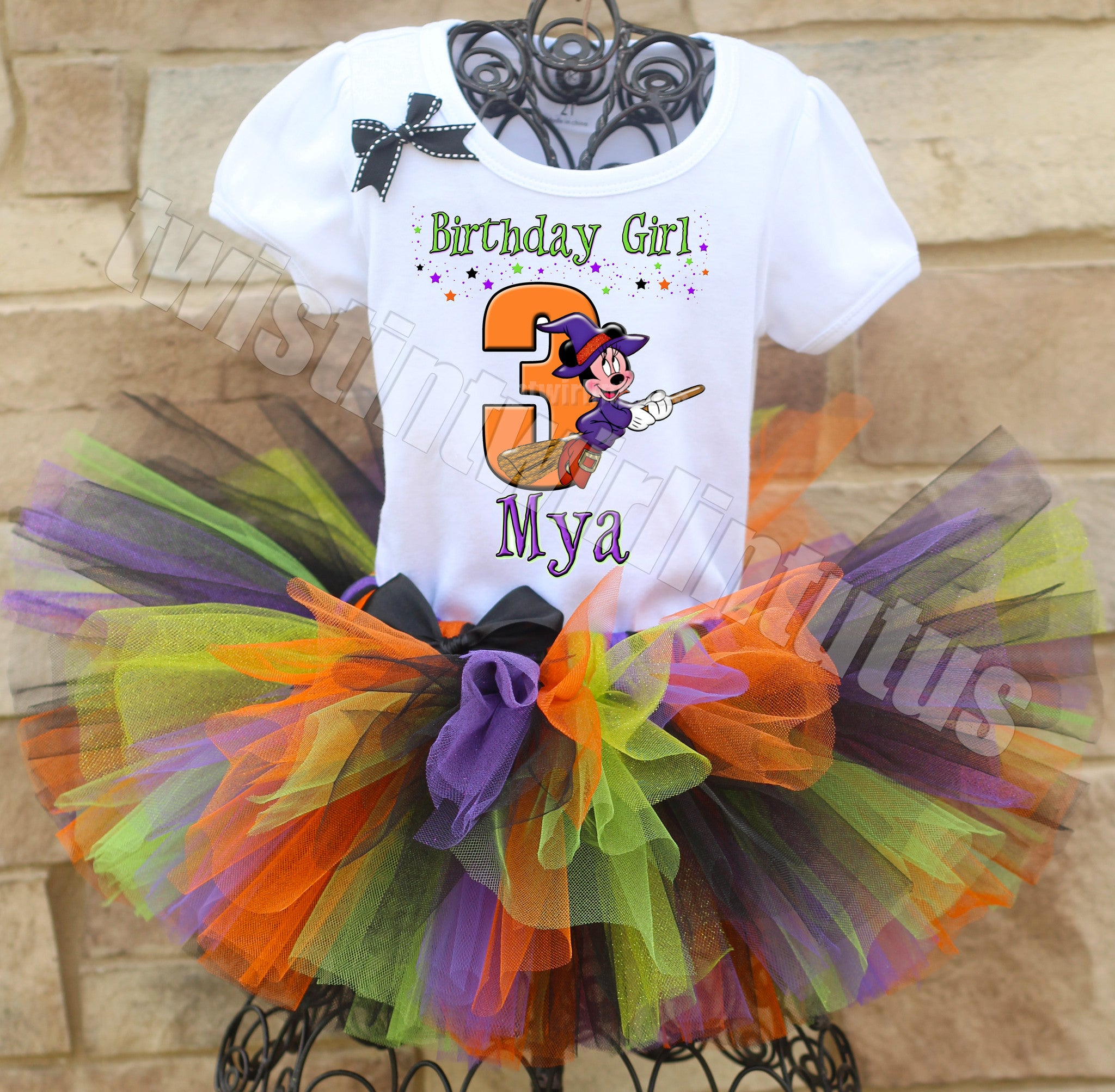Halloween Minnie Birthday Tutu Outfit