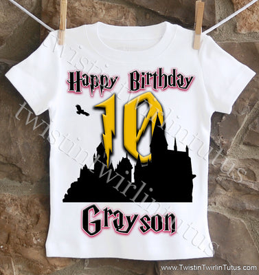 Harry Potter Hogwarts Birthday Shirt