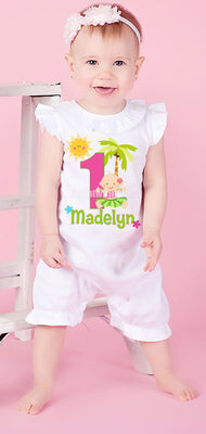 Hawaiian Luau Birthday Romper