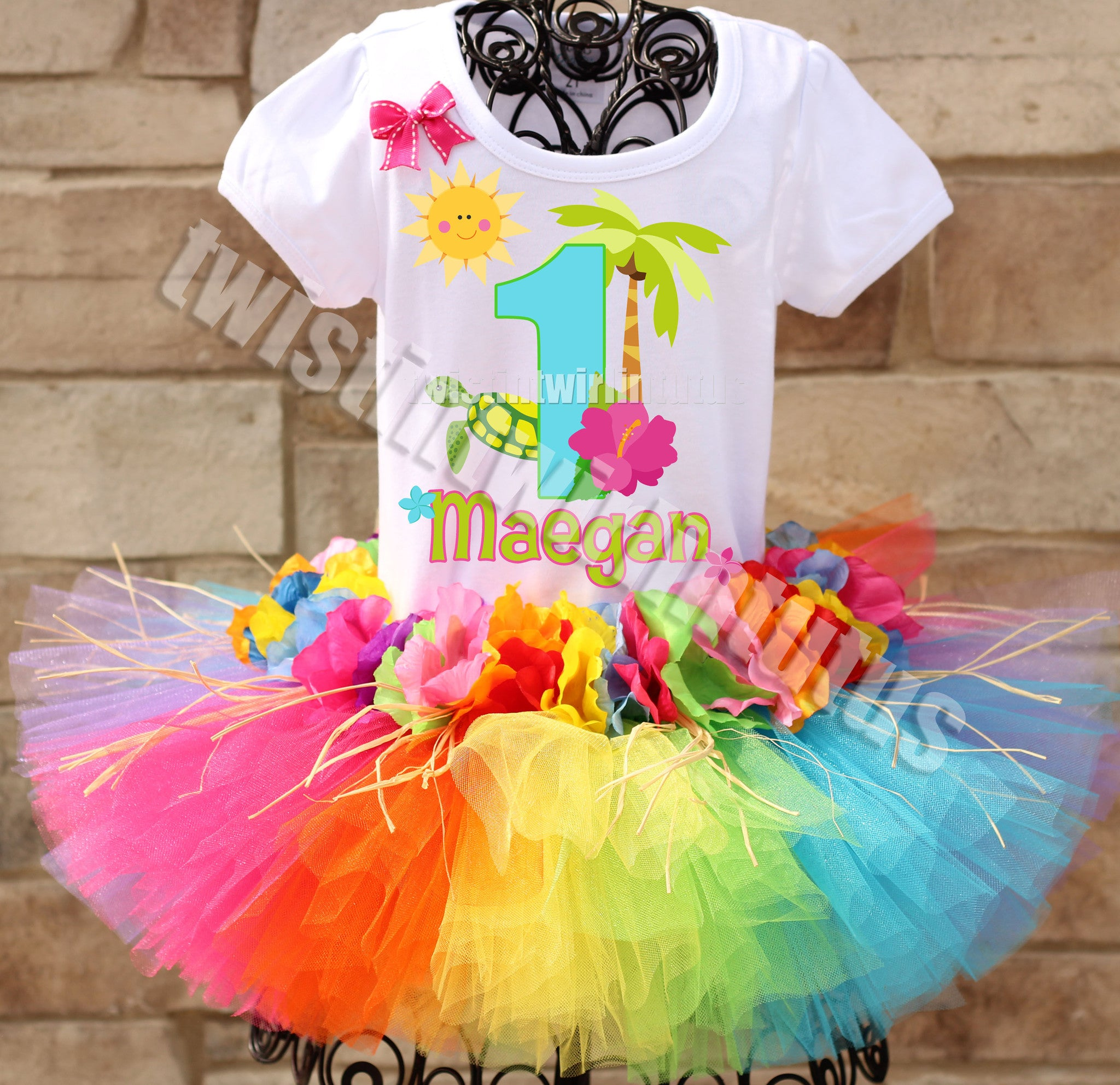Hawaiian Luau Birthday Tutu Outfit