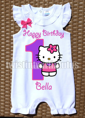 Hello Kitty Birthday Romper