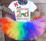 Hungry Caterpillar Birthday Tutu Outfit