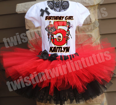 Incredibles Birthday Tutu Outfit