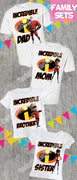 Incredibles Family Birthday Shirts