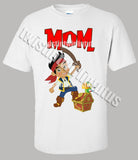 Adult Jake and the Neverland Pirates Birthday Shirt
