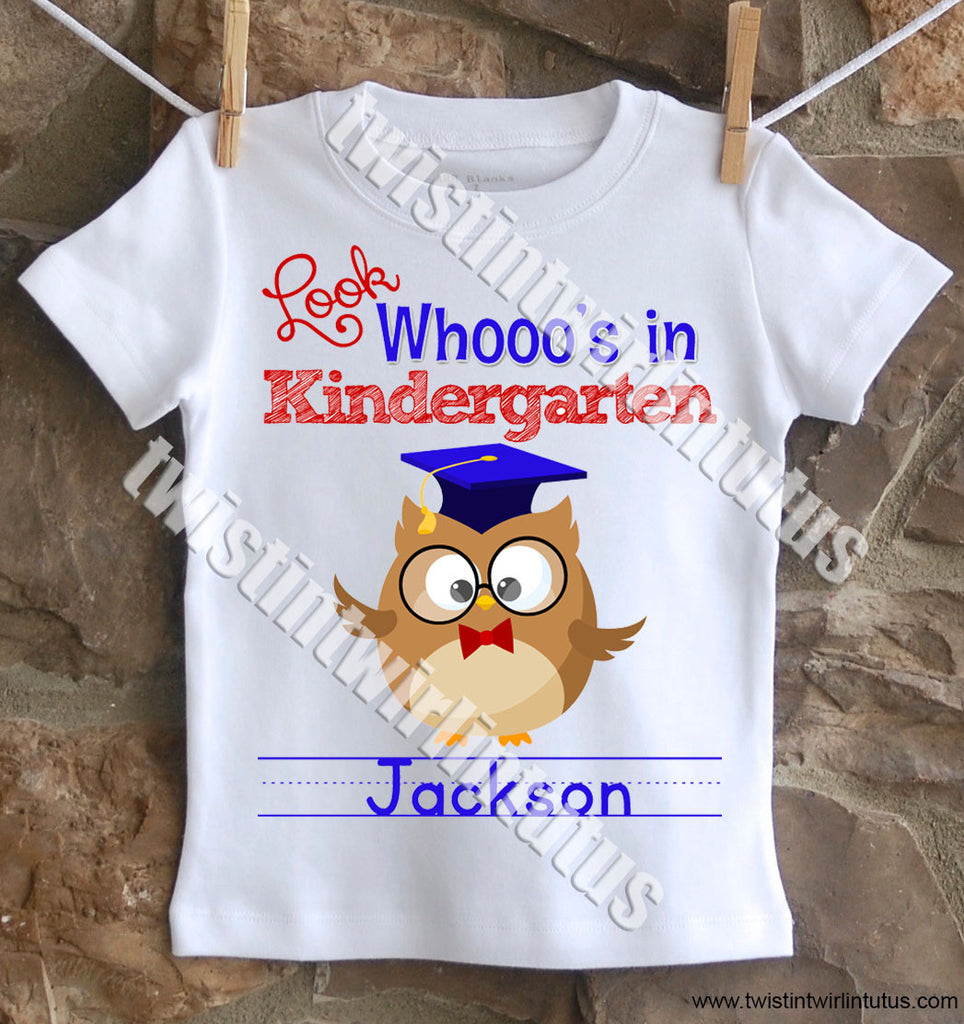 Boys First Day of School Shirt - Owl
