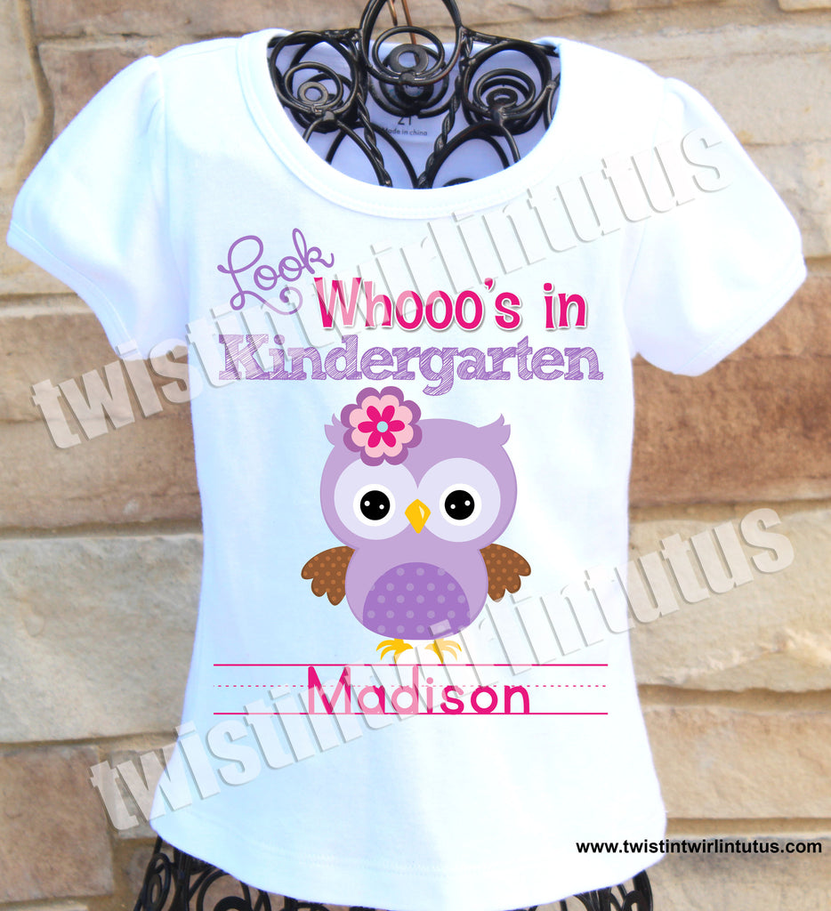 First Day of School Owl Shirt