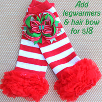 Christmas Legwarmers and Hair Bow