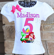 Little Mermaid Birthday Shirt