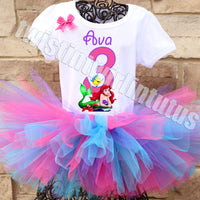 Little Mermaid Birthday Tutu Outfit