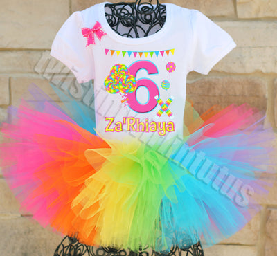 Candyland Lollipop Birthday Tutu Outfit