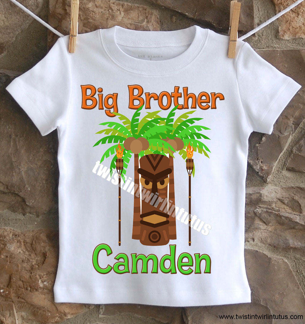 Hawaiian Luau Brother Shirt