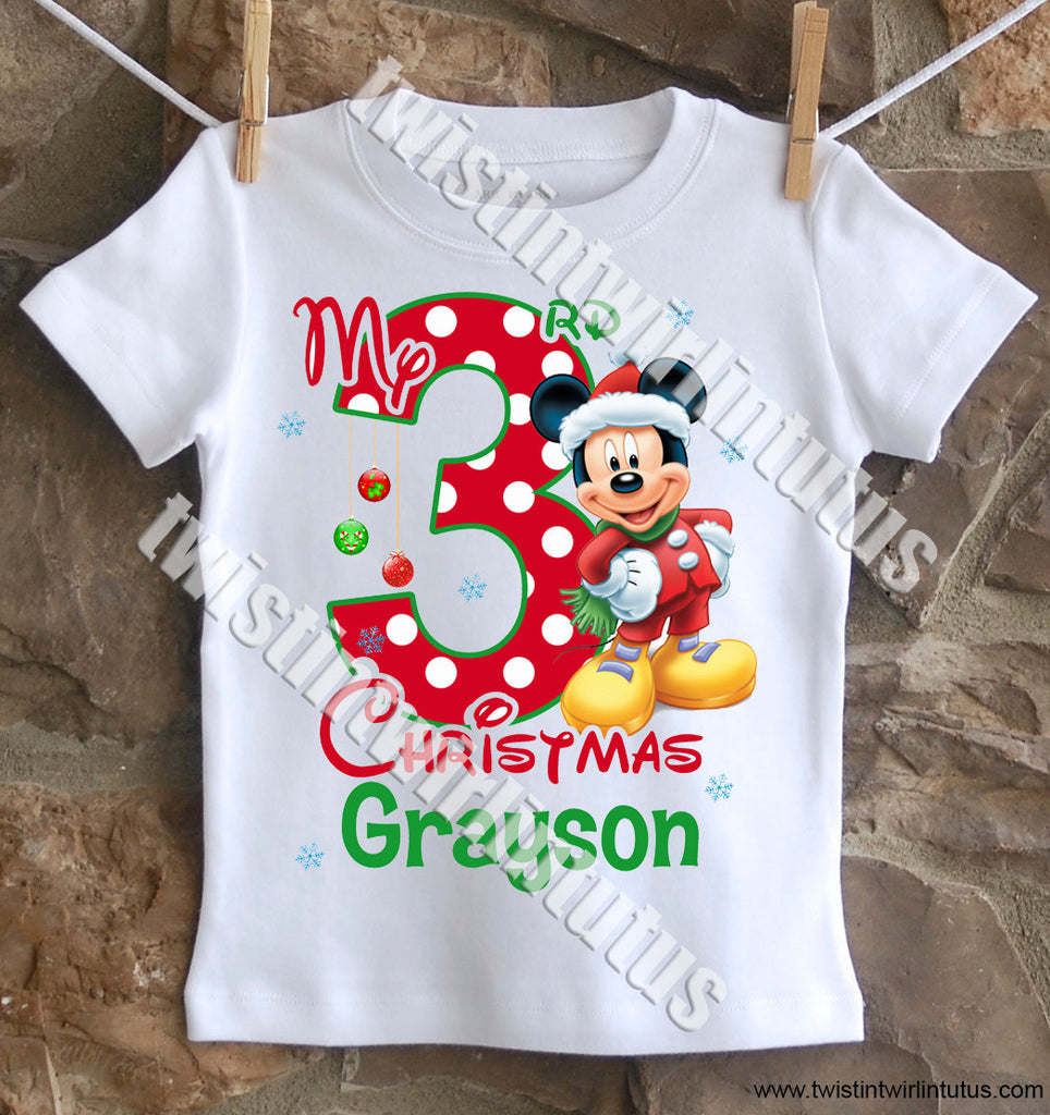 Boys Mickey Mouse Christmas Shirt