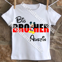 Mickey Mouse Brother Birthday Shirt