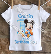 Mickey Mouse Cousin Birthday Shirt