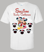 Adult Mickey Mouse Christmas Shirt Personalized