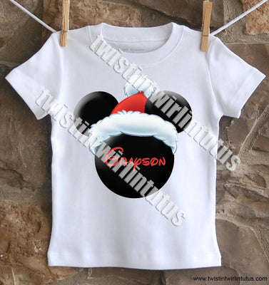 boys mickey christmas shirt