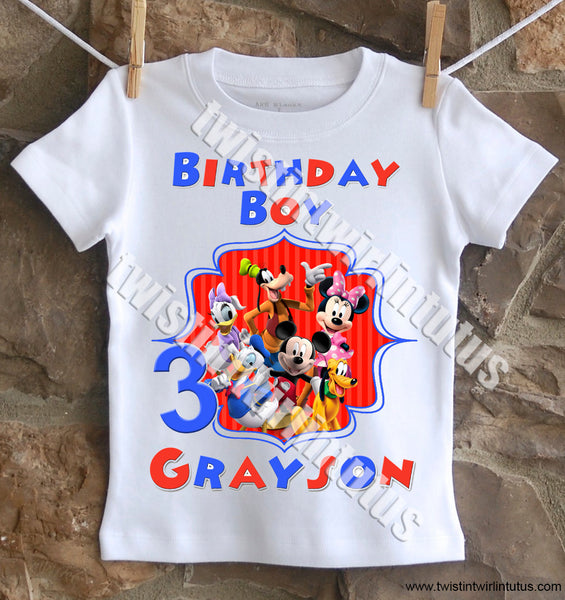 adult mickey mouse clubhouse birthday shirt daisy