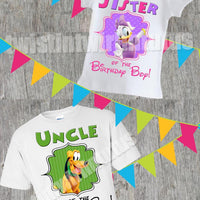Mickey Mouse Clubhouse Family Birthday Shirt