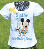 Mickey Mouse Sister Birthday Shirt