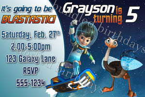 Miles From Tomorrowland Birthday Invitation Digital Download