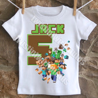 Minecraft Birthday Shirt