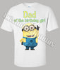 Adult Dad Minion Birthday Shirt
