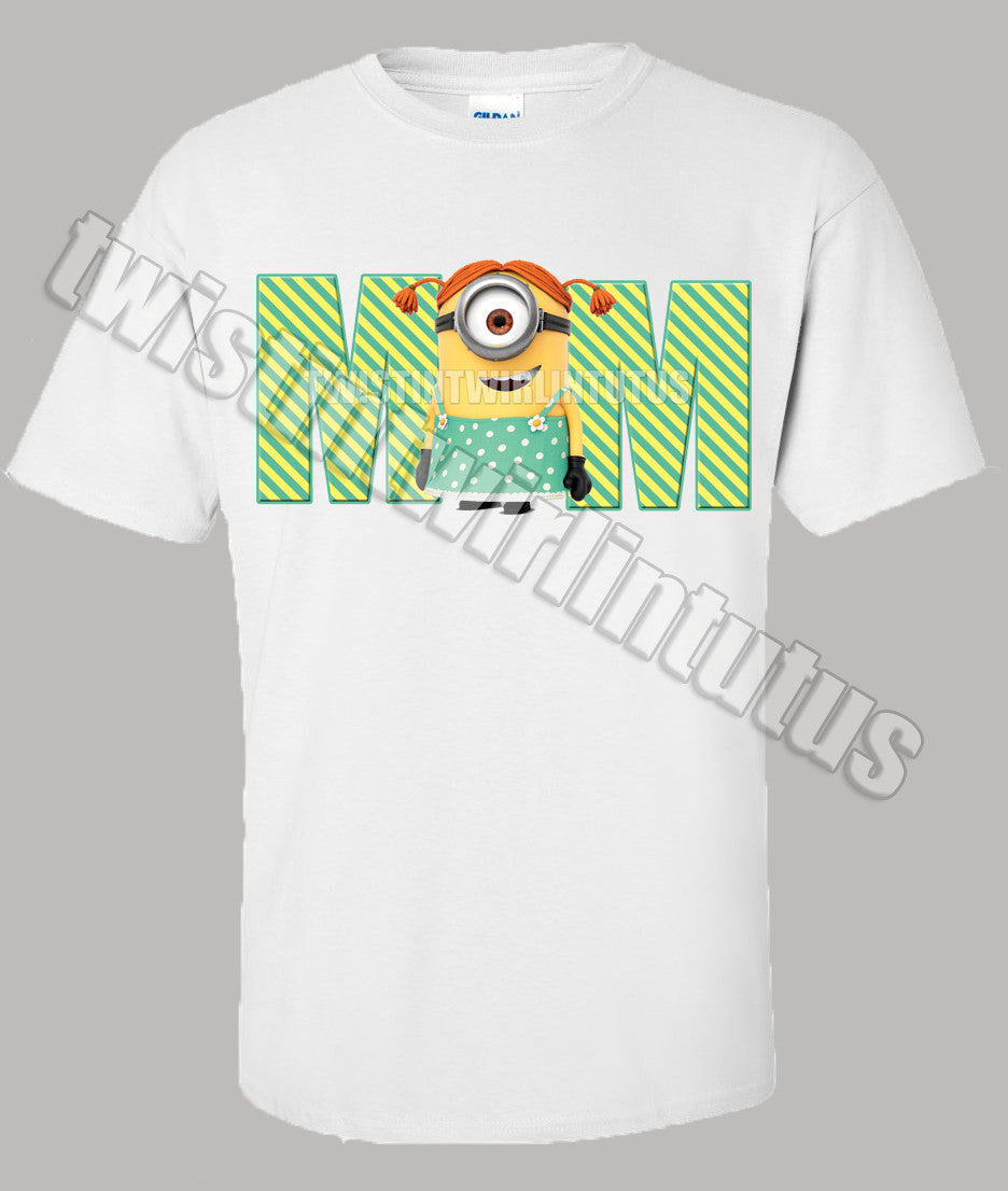 Adult Mom Minion Shirt