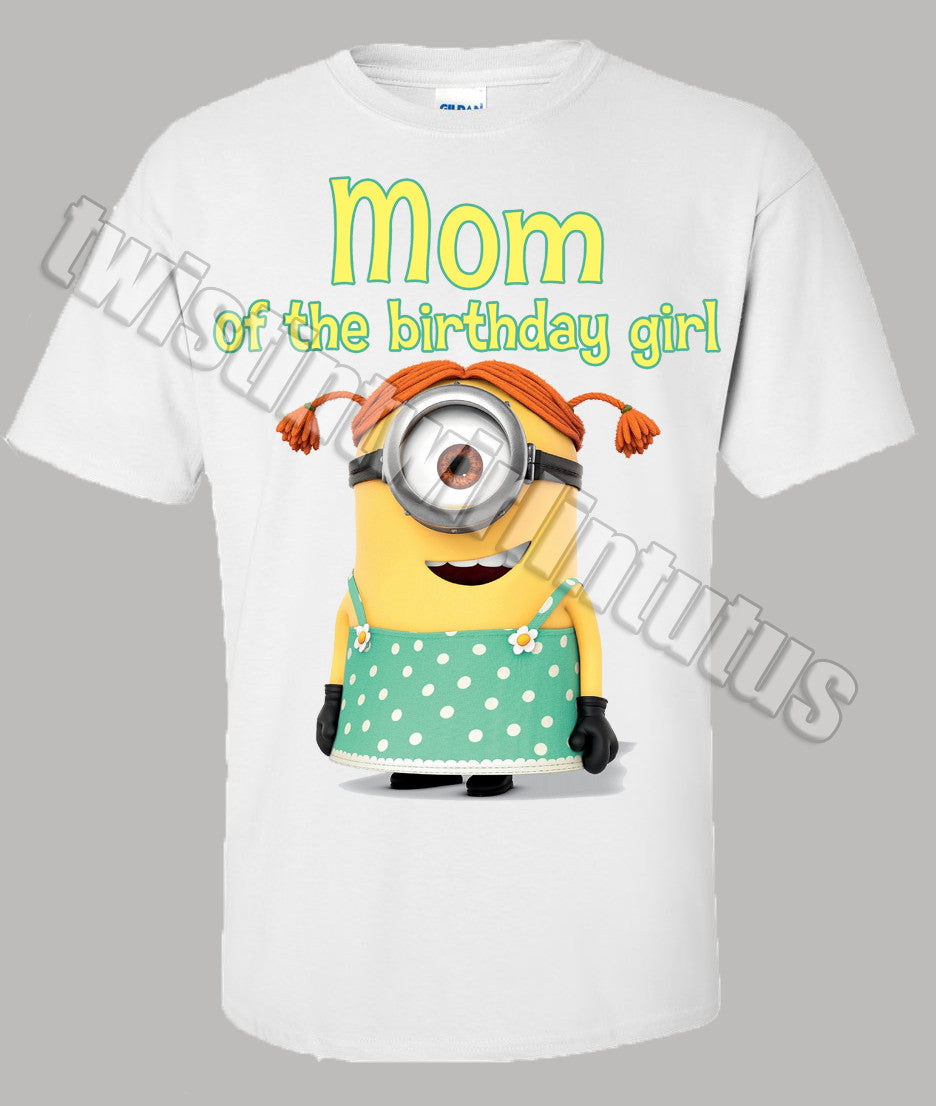 Adult Minion Birthday Shirt Mom