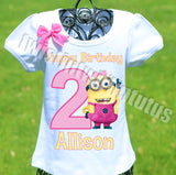 Minion Birthday Shirt Girls